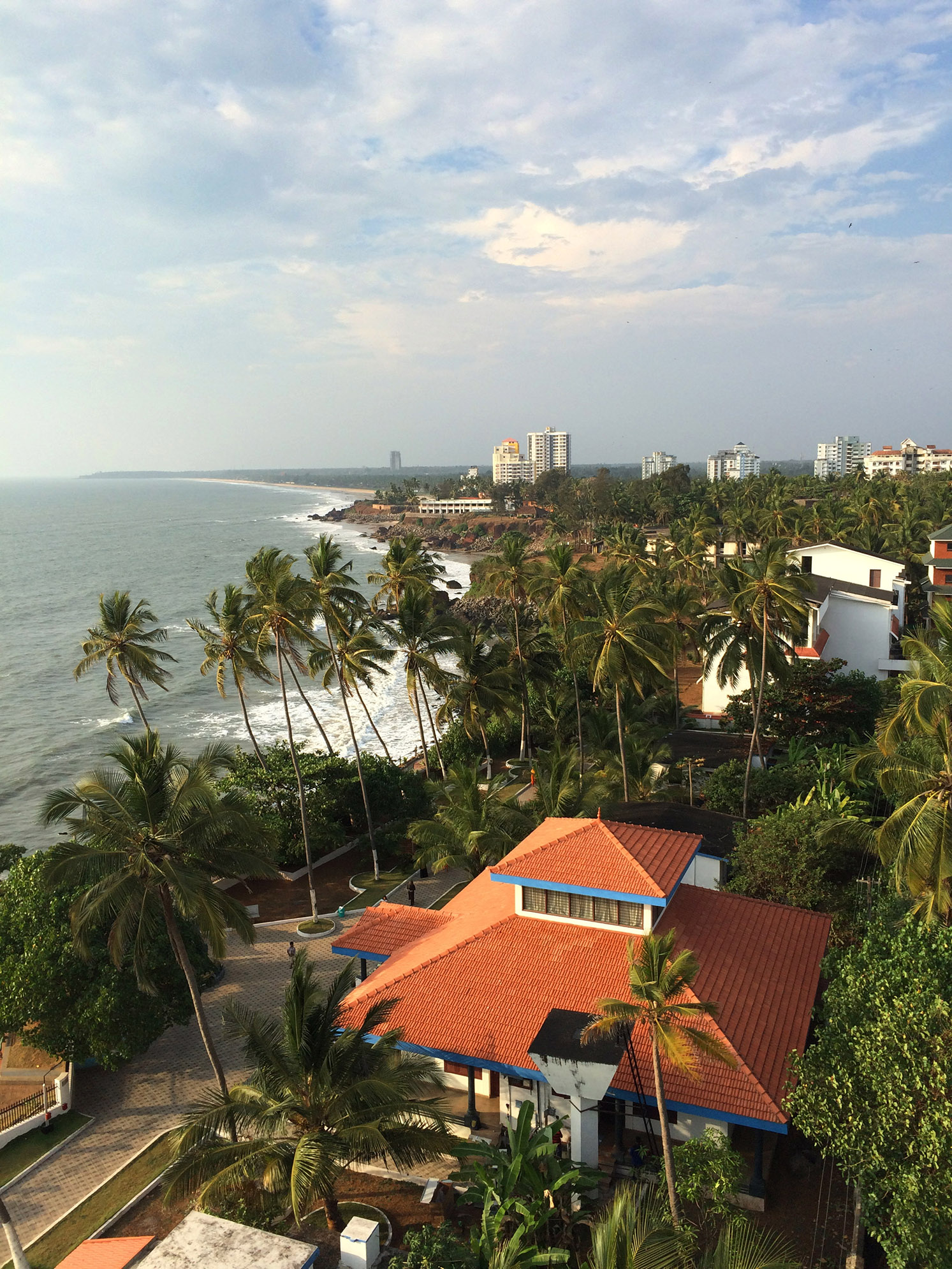This was the view from the top of the Light House in Kannur, Kerela.