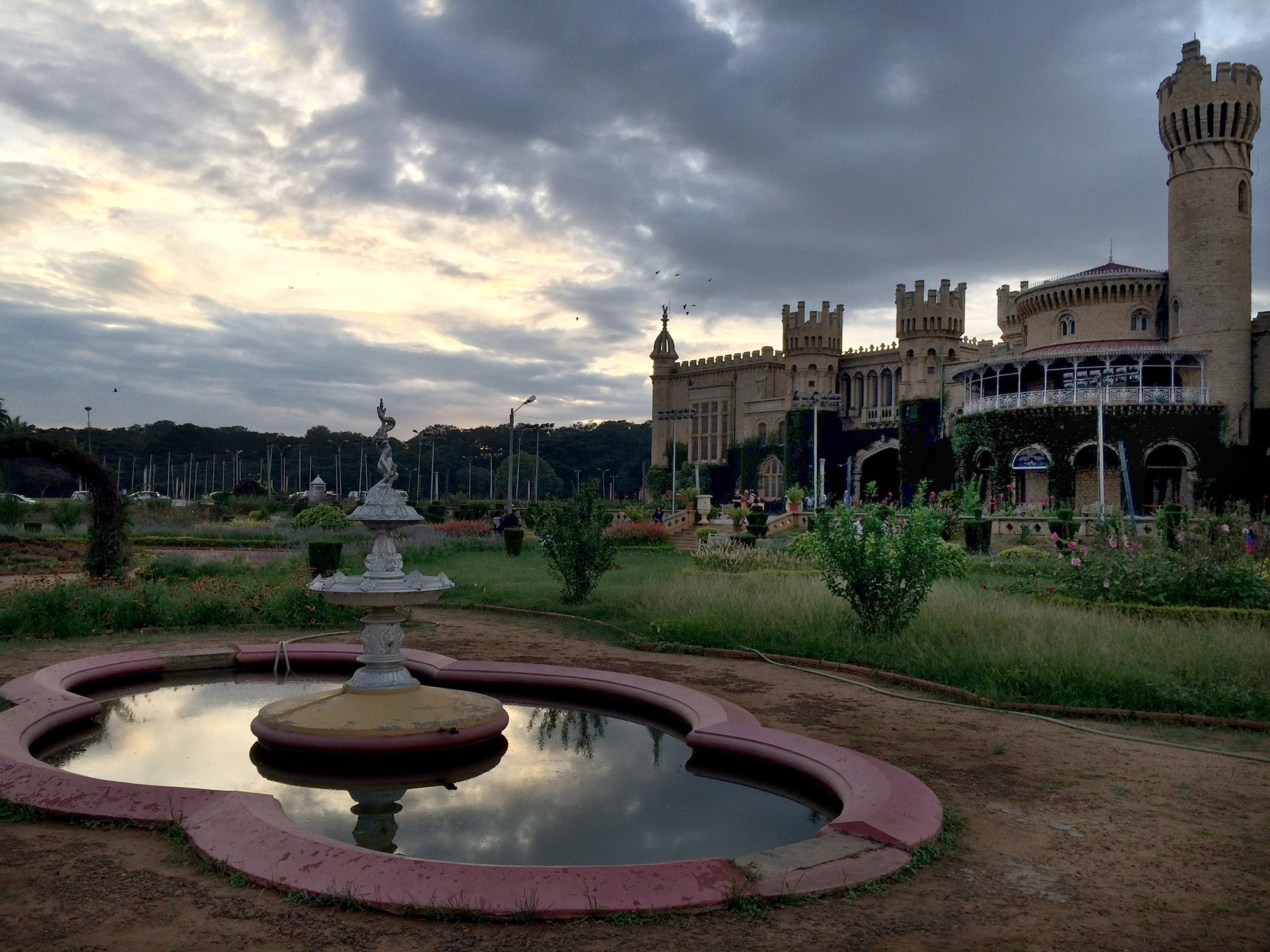 The royal view of Bangalore fort.