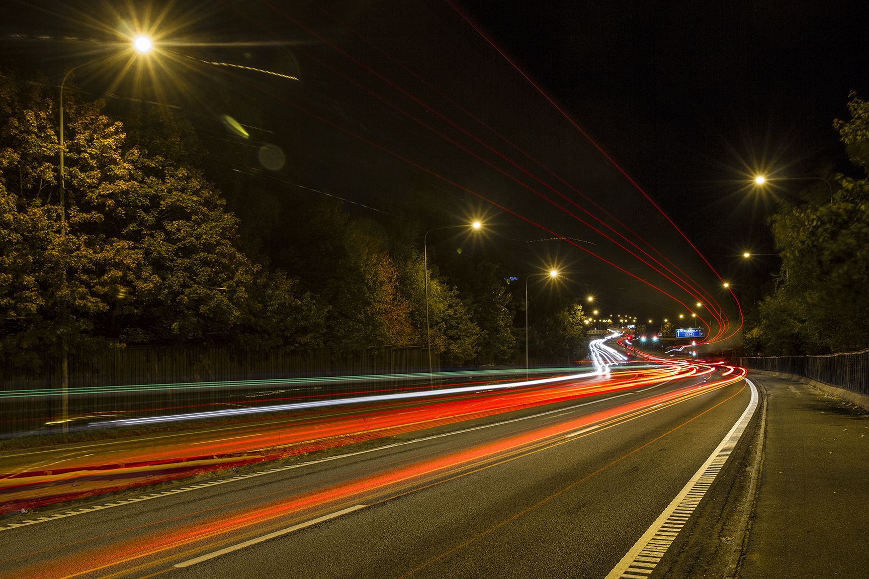 for me this long exposure and roads in night is like a trails of snakes