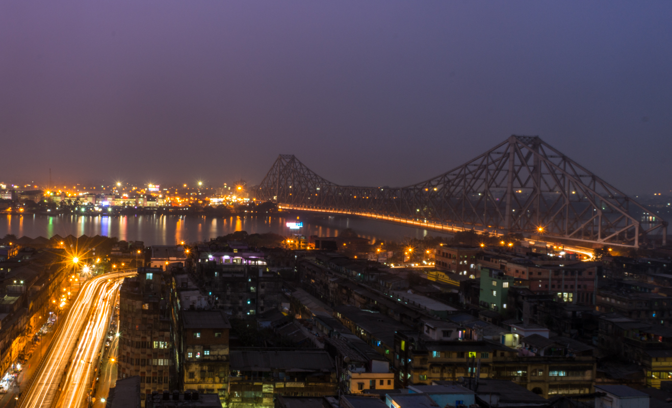 Photo of Howrah Bridge , connecting Howrah and Kolkata