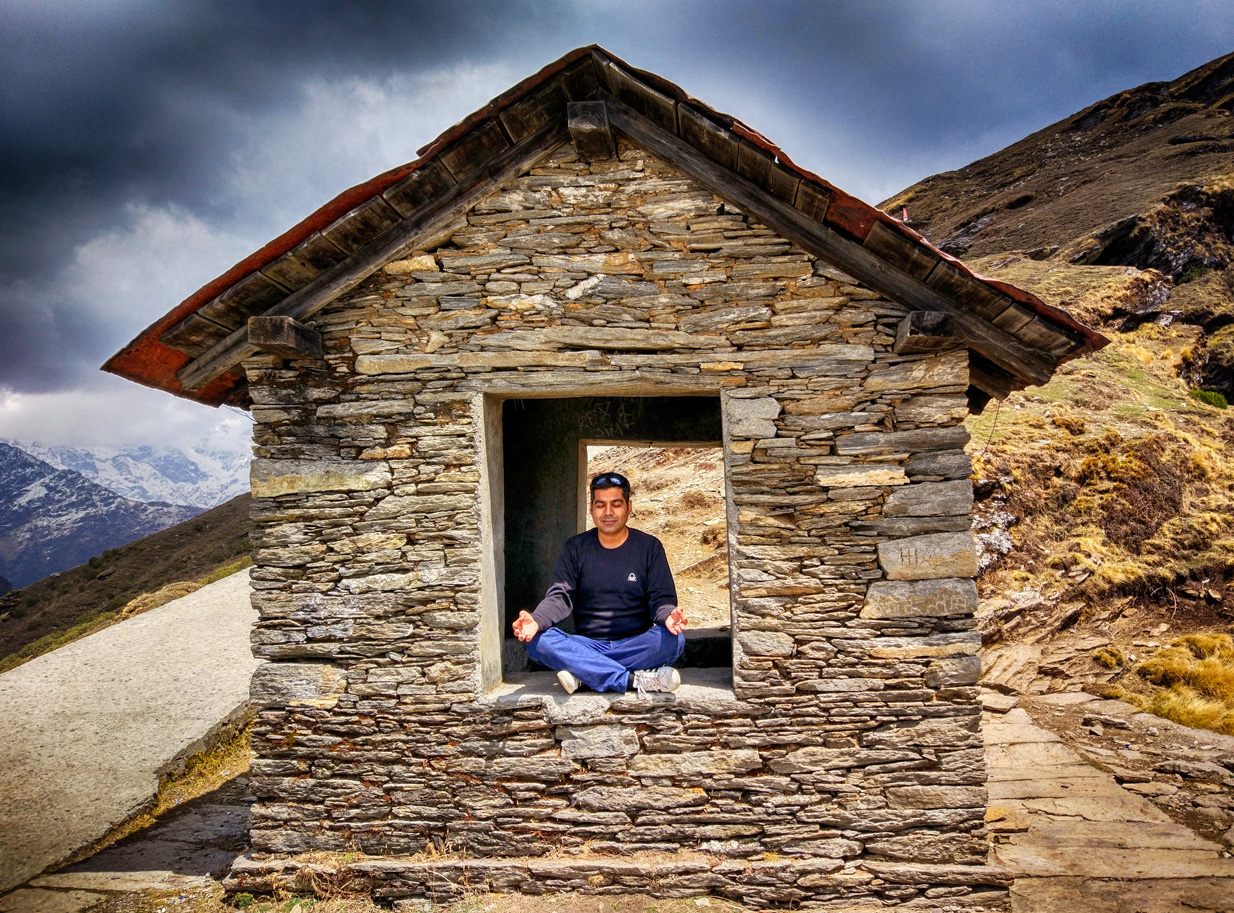 Meditating while trekking can be very blissful !! It instantly makes one inward & peaceful. 