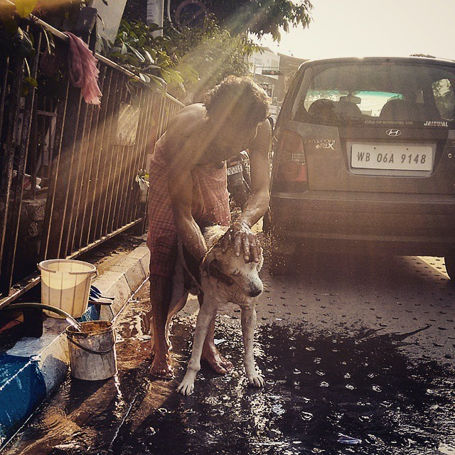 This photographer was made on the streets of Kolkata on a very warm summer afternoon.   The friendship was heartwarming.