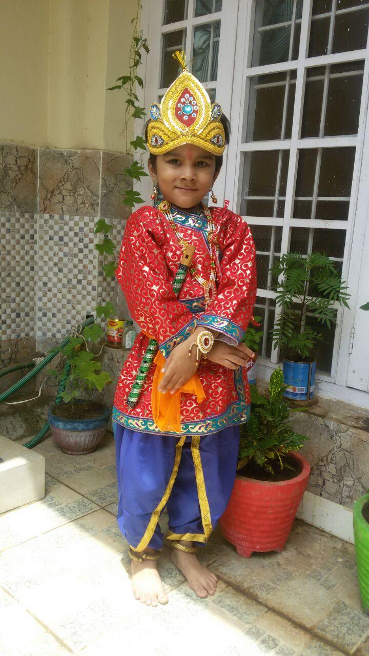 Sweet baby in kanhayaa costume