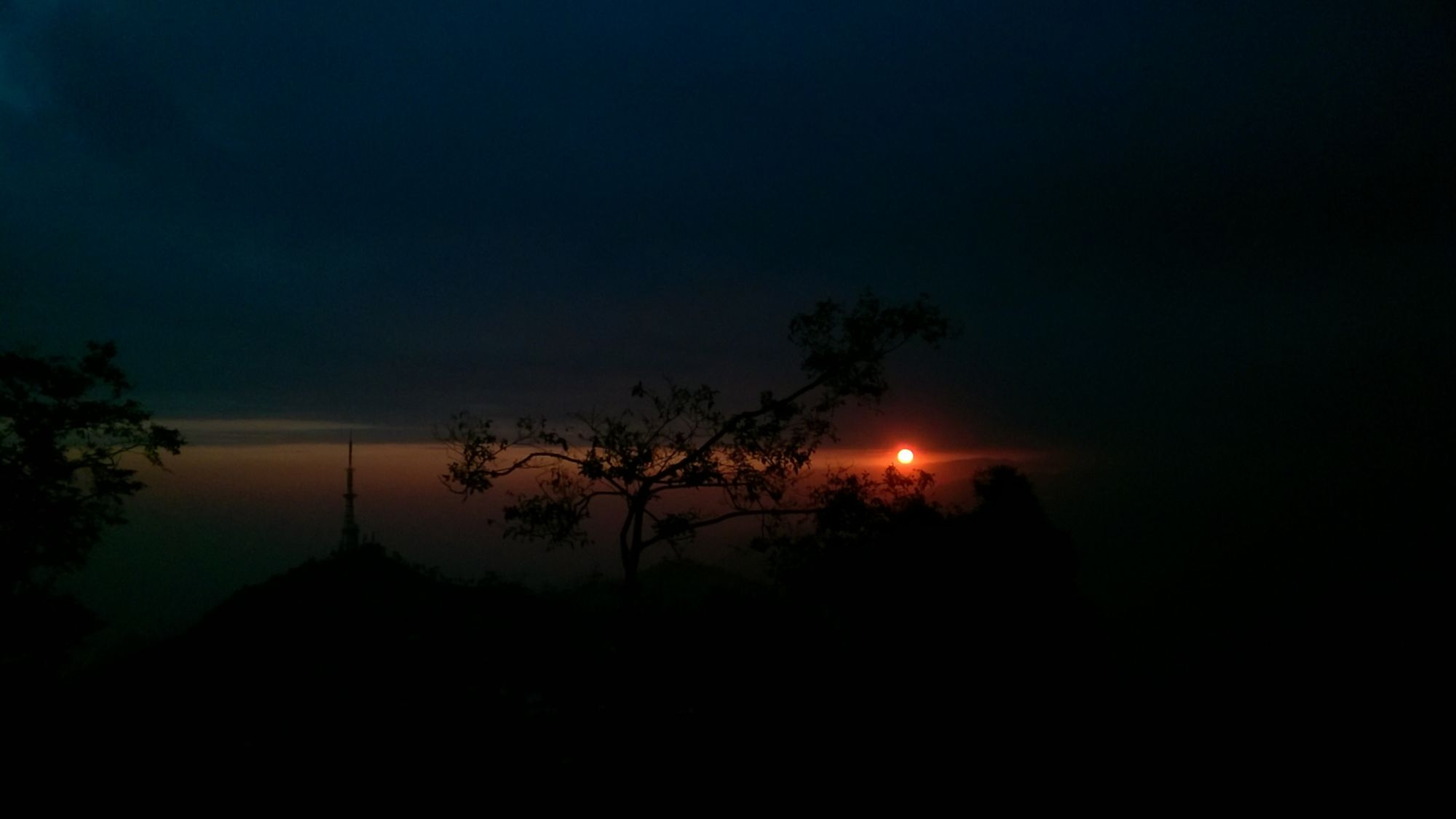 This is the view of beautiful sunset from Kurseong.