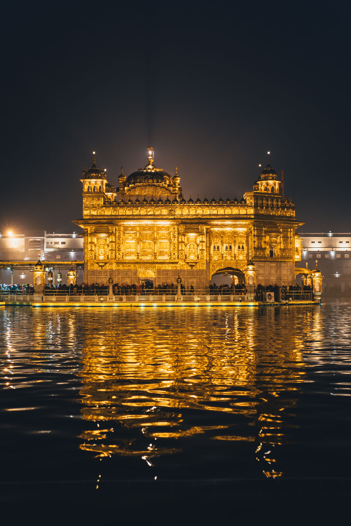 The lights shined brighter than stars that night.