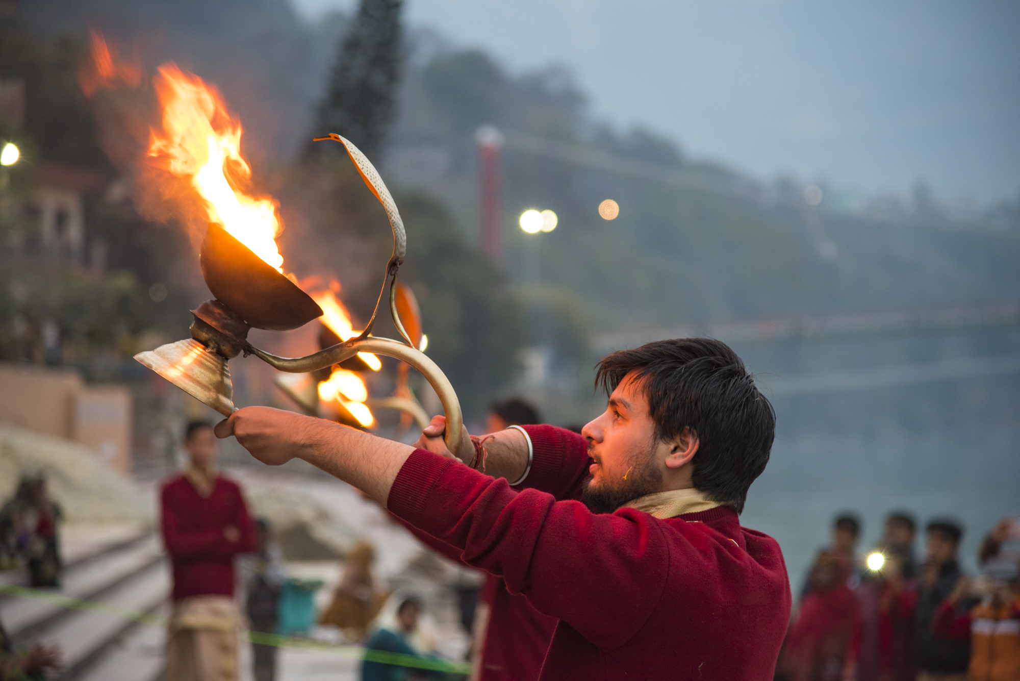 Evening Aarti at Rishikesh Ghat
