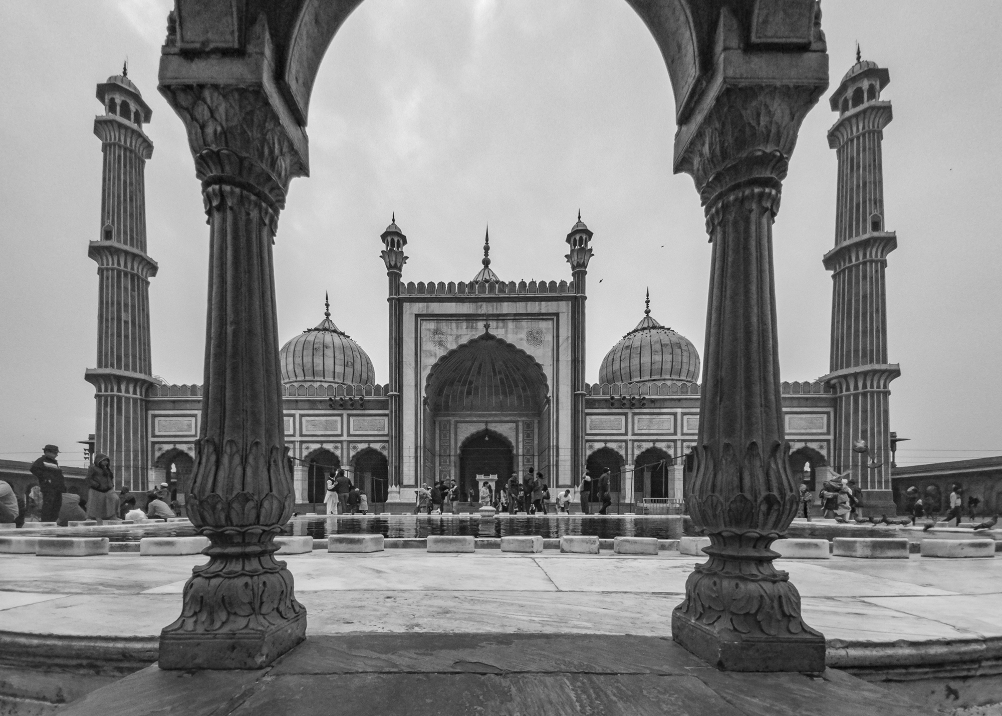 Jama Mosque in Delhi is one of the largest mosques in India built by mughal emperor Shah Jahan.