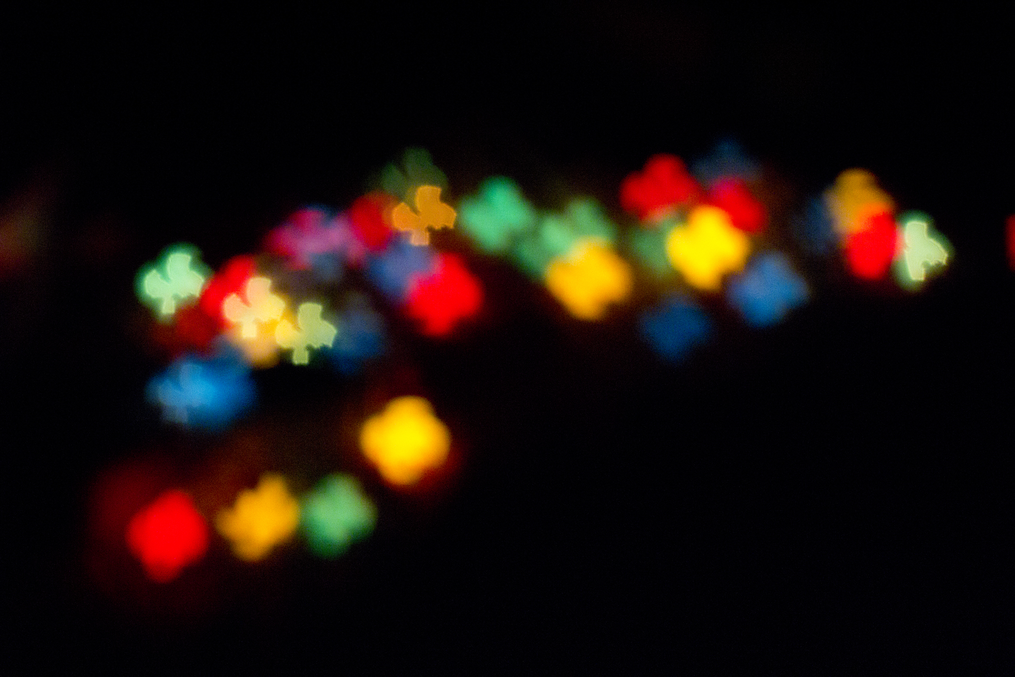 Abstract Bokeh with a play of Colours and shadows
