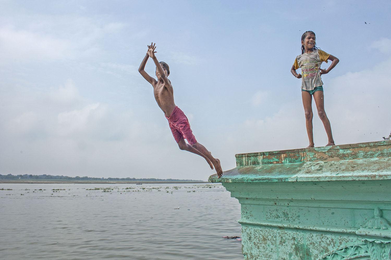 The photo was taken in varanasi
