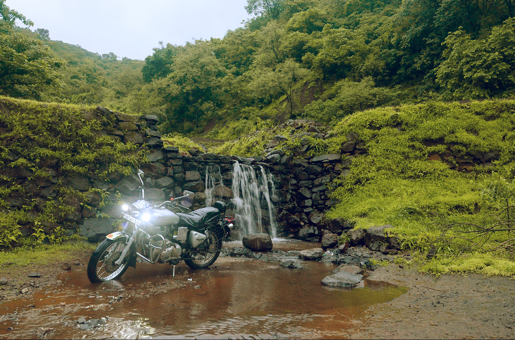 In an attempt to beat the heat, escape into wilderness. Shot on a bike trip to a nearby forest area. We bathed under the natural water stream to beat the heat.