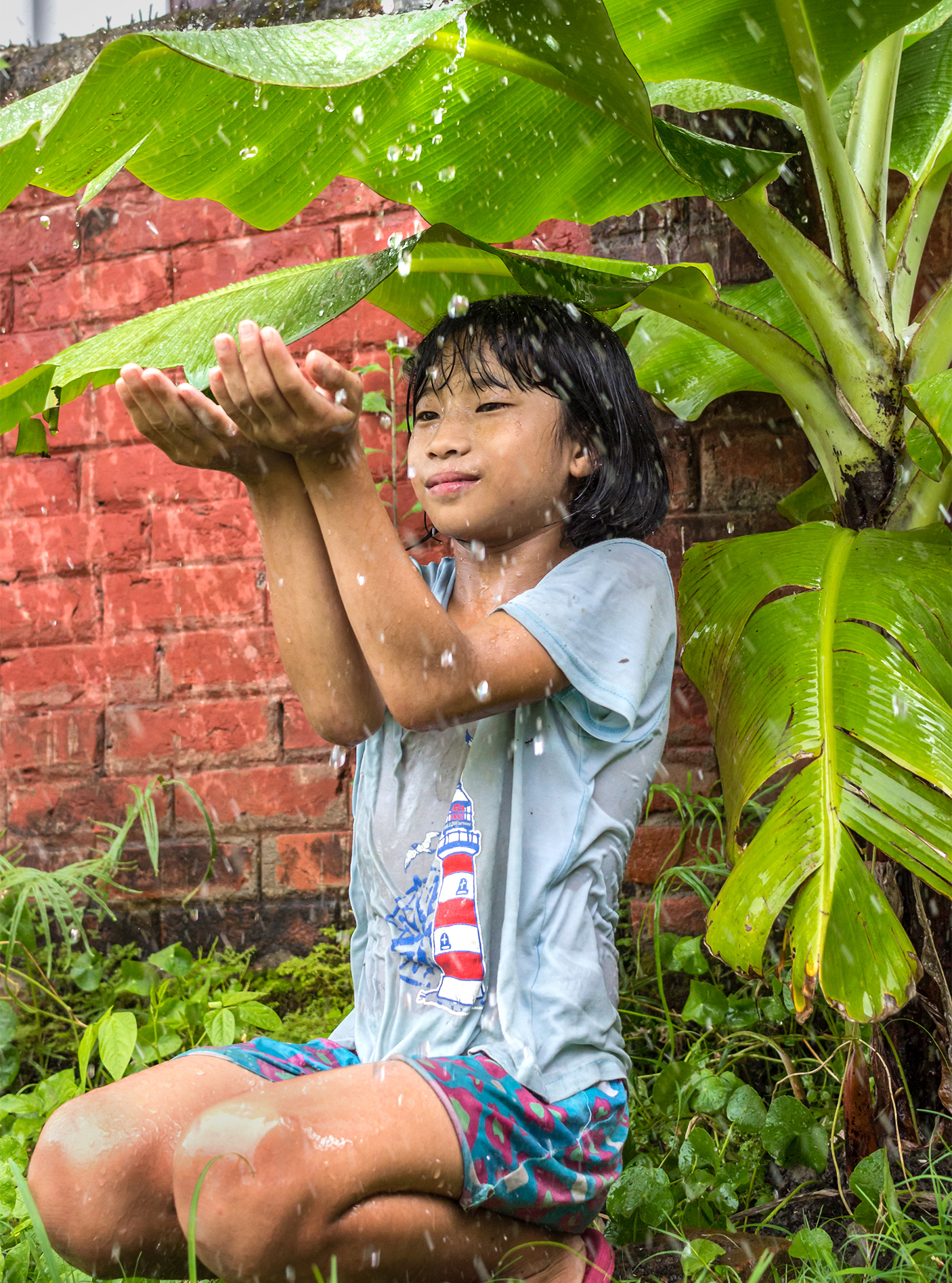 Monsoon bringing its first drops of rain brings out the childhood in all.