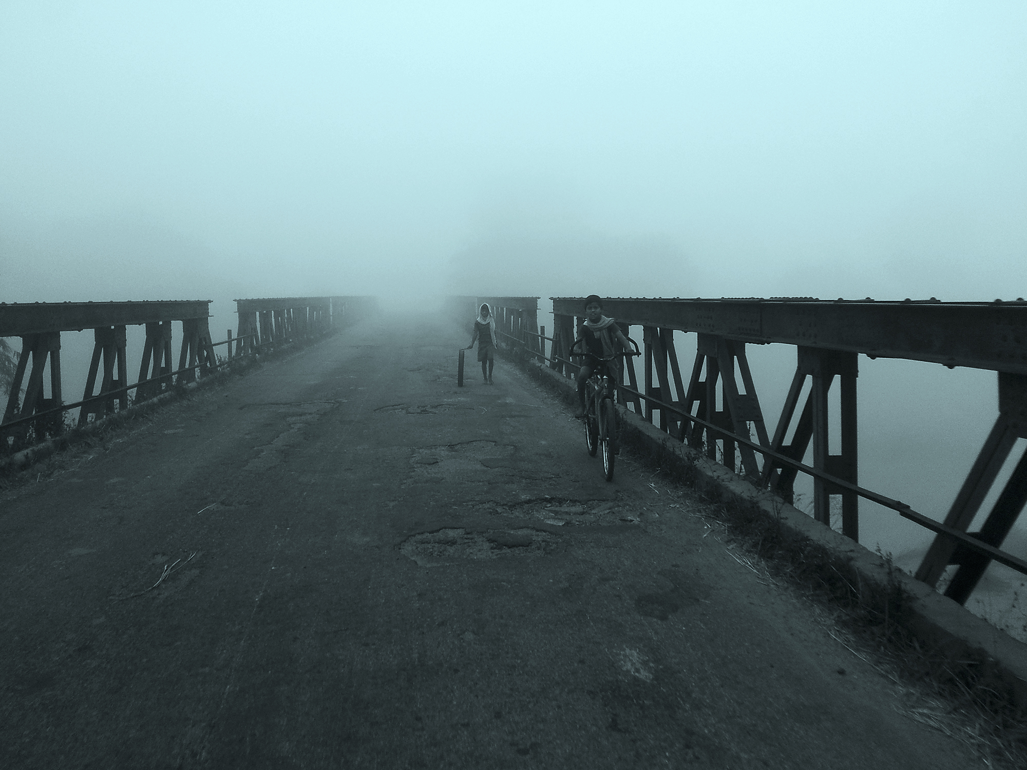 This shot is taken at a old and neglected bridge  in the place of birth