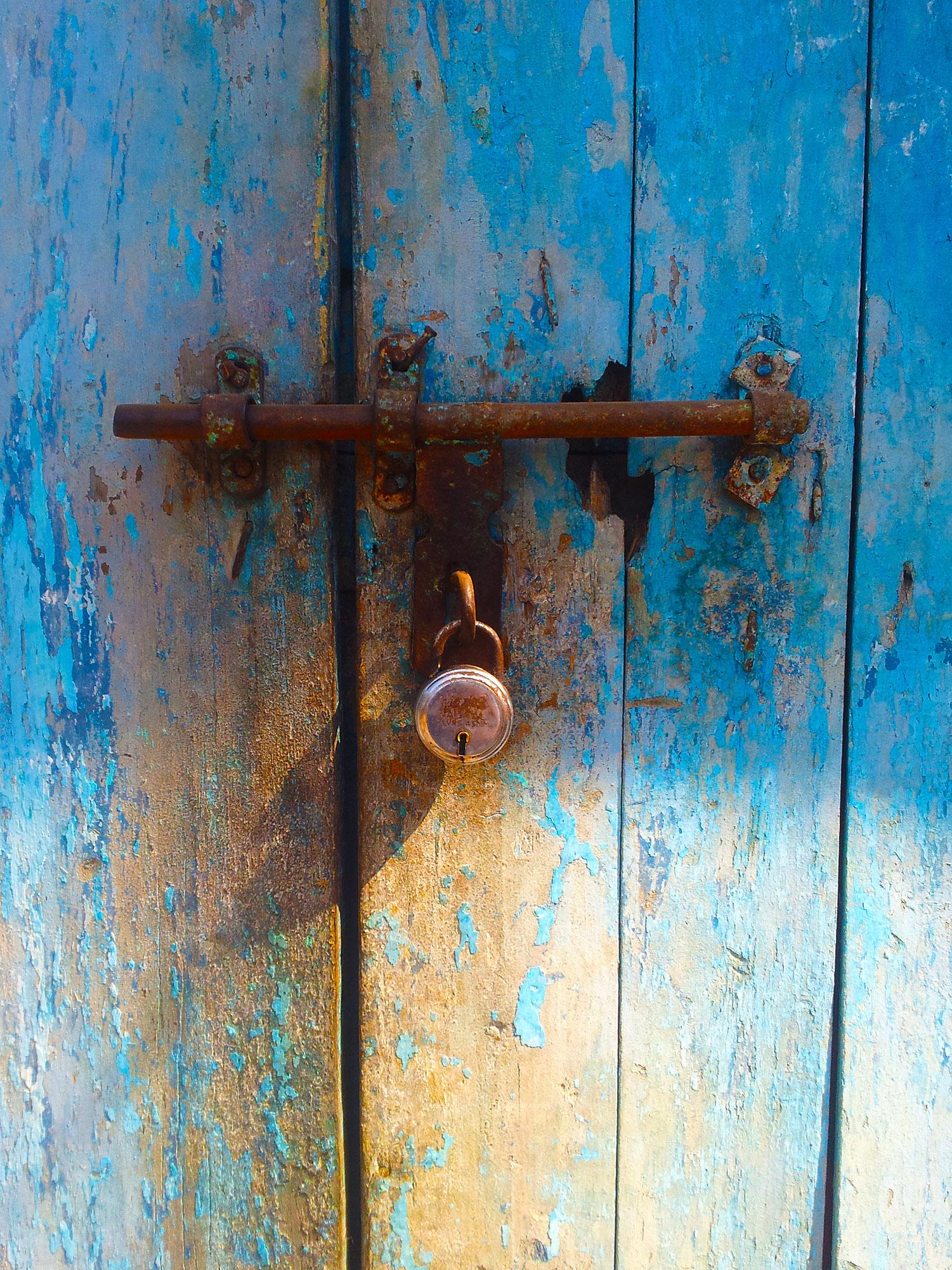 Shot taken of a locked room.