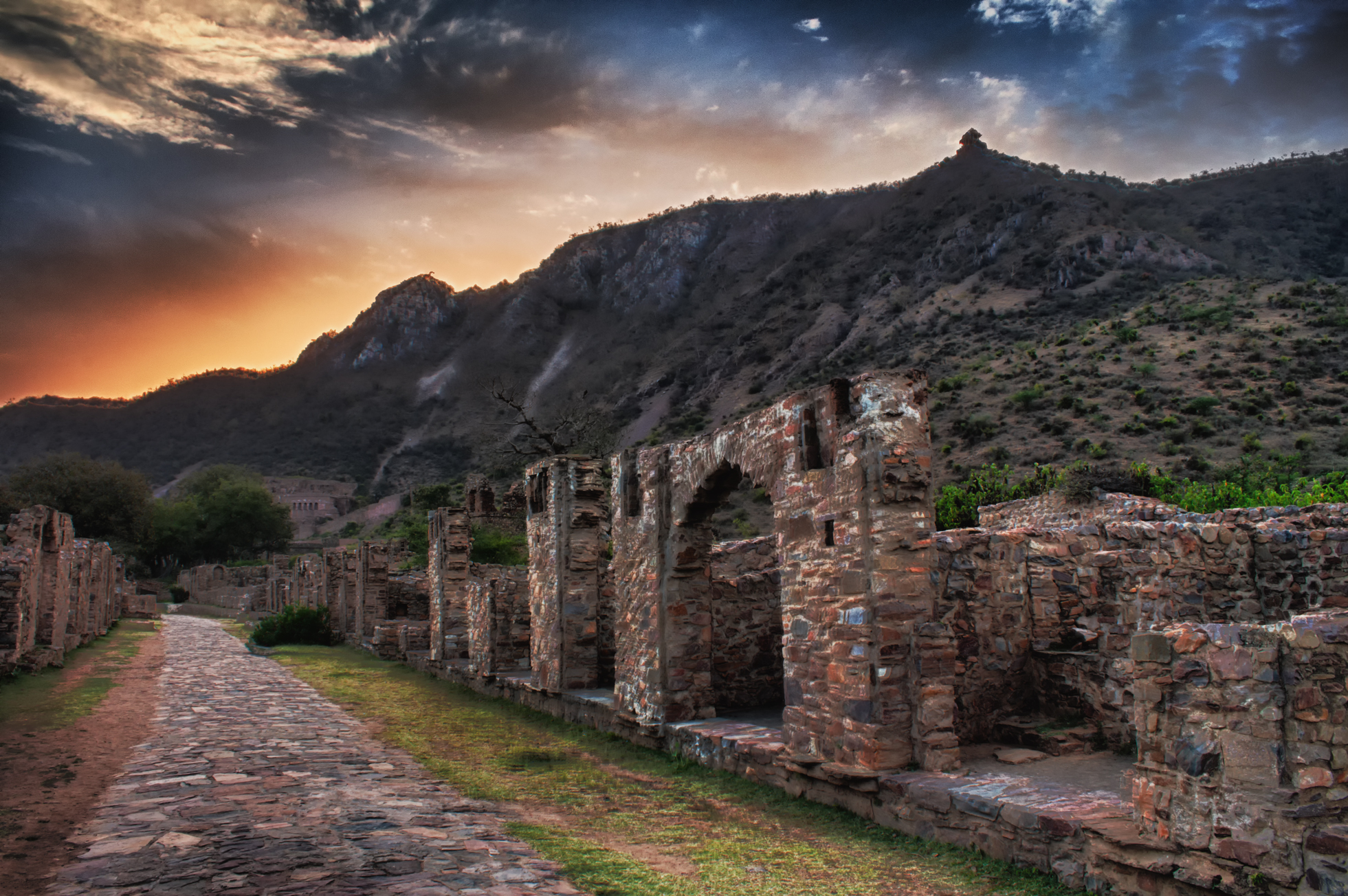 a land destroyed by hatred. the haunted land of bhangarh in rural rajasthan