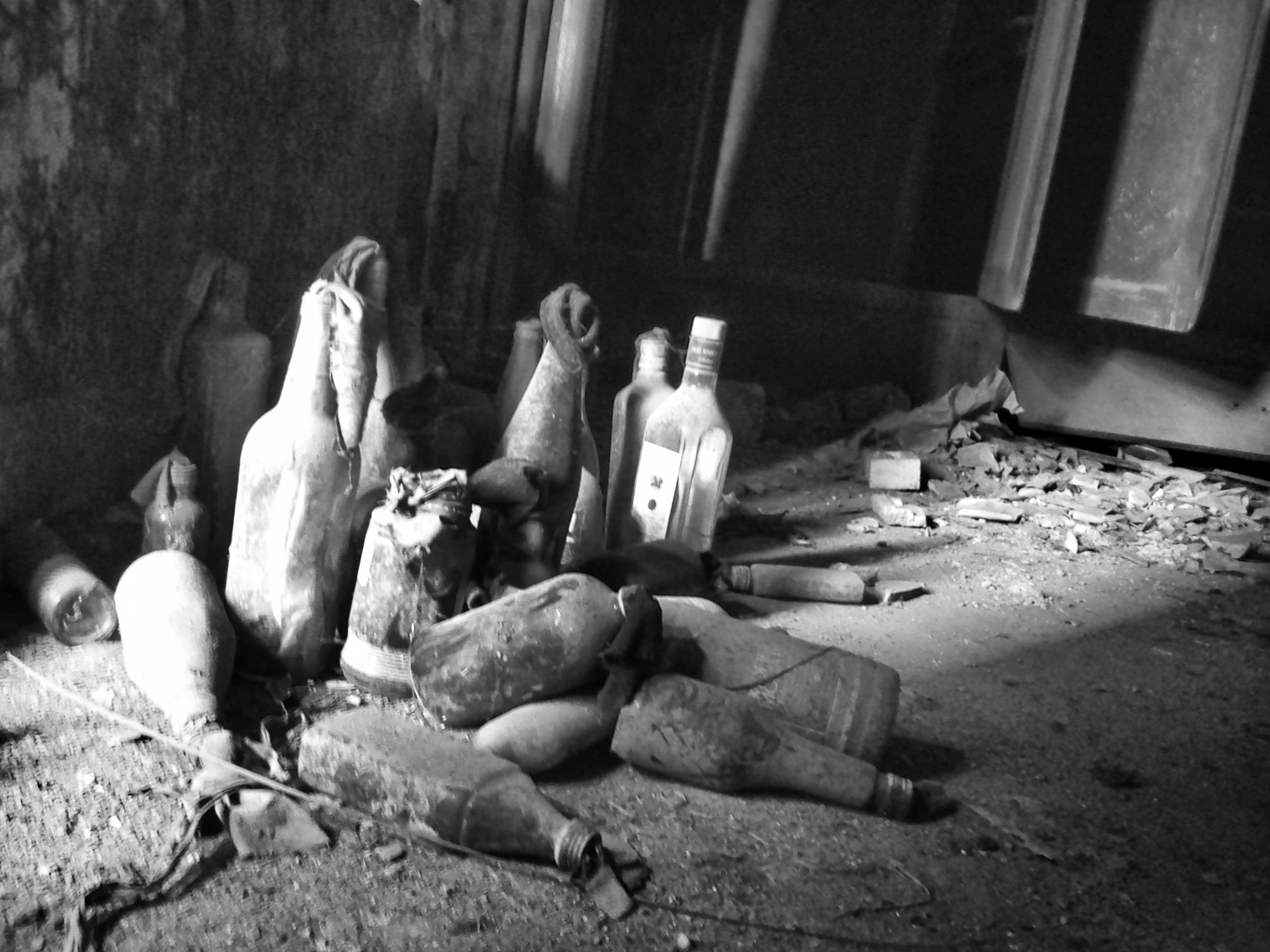 This photo is taken in first floor of a house in old Ahmedabad. This unused explosives reminds of the riots happened at that place after Godhara incident during 2002.