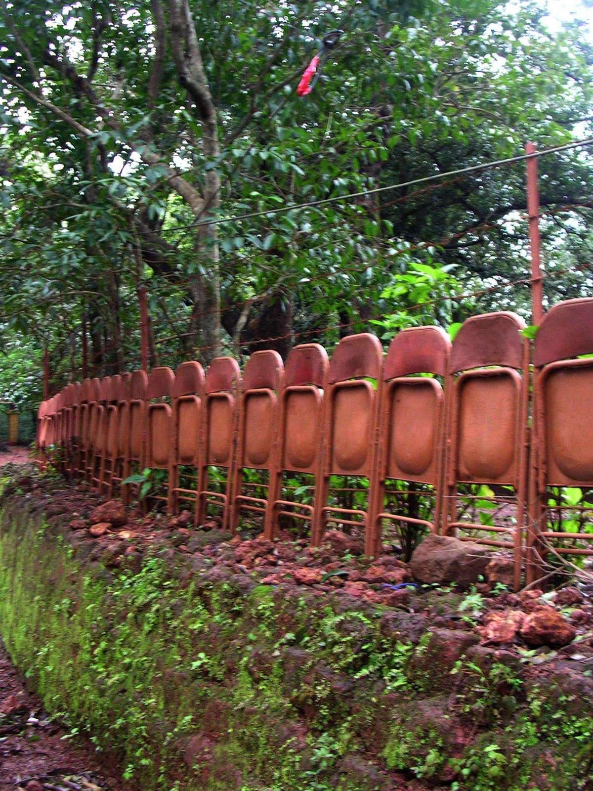 found this interesting barrier of an old building at matheran, maharashtra