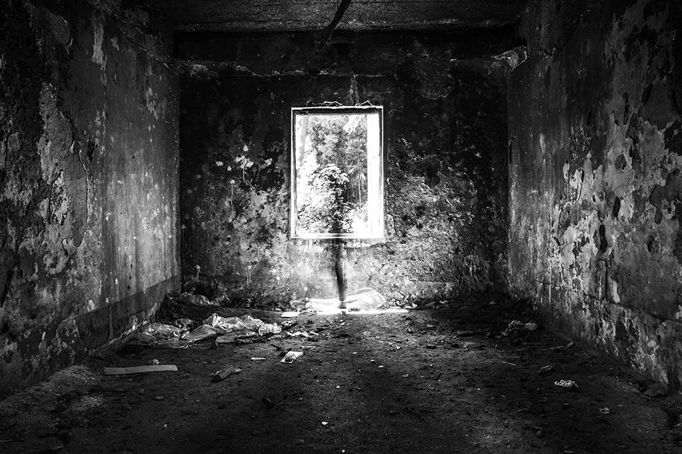 Self representation in an abandoned mental hospital.