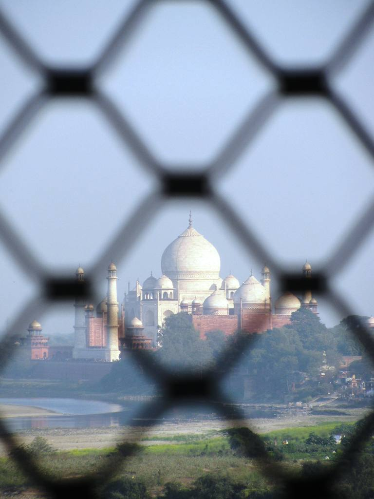 View of grat Taj Mahal from Agra Fort. ..