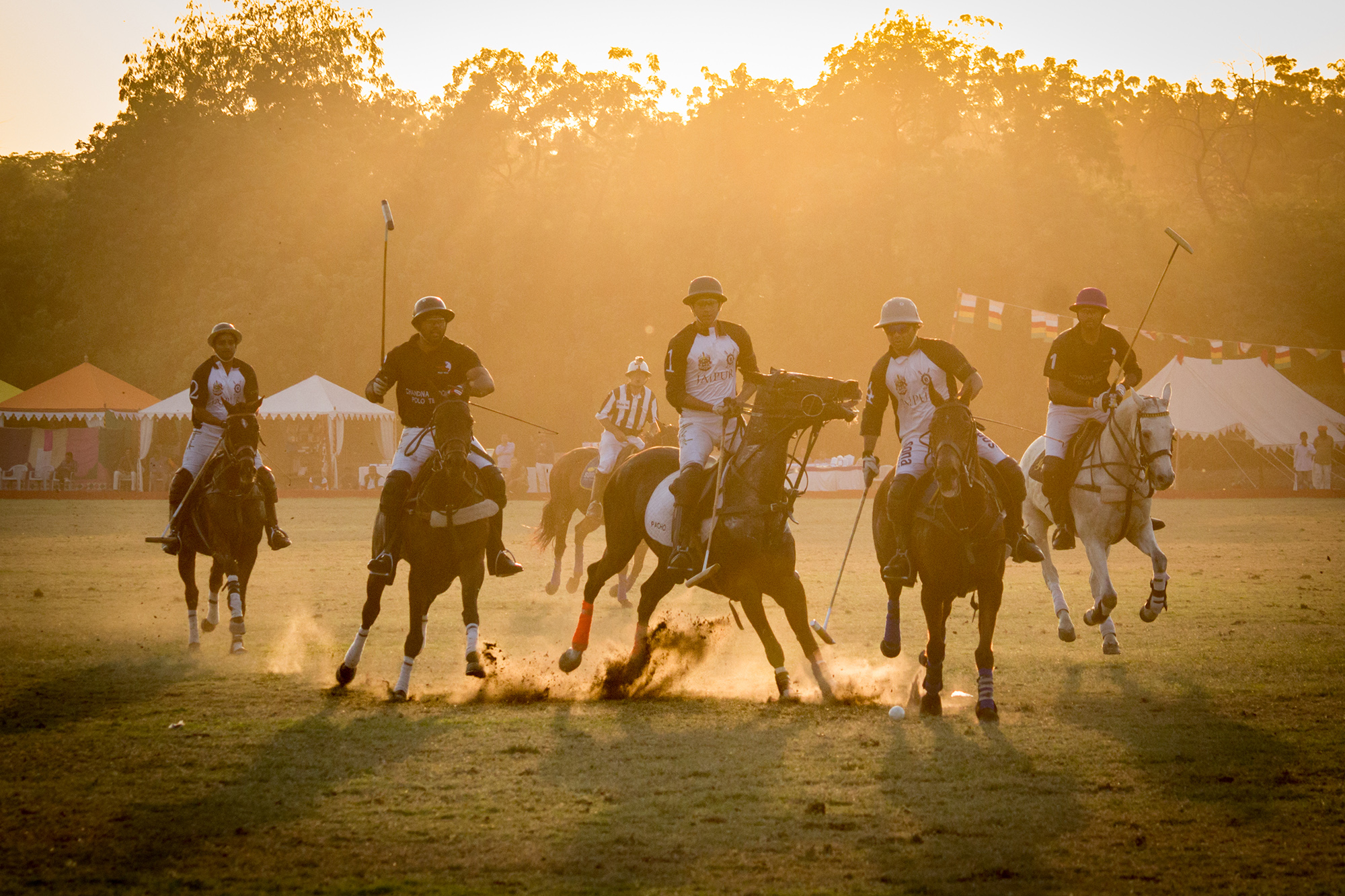 A thrilling moment from the Jodhpur polo in against light condition.