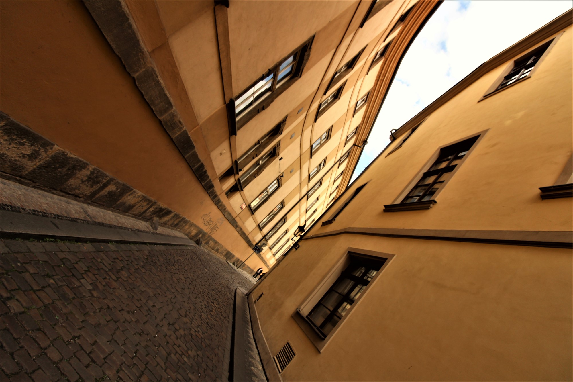 One of the several beautiful alleyways in Prague.