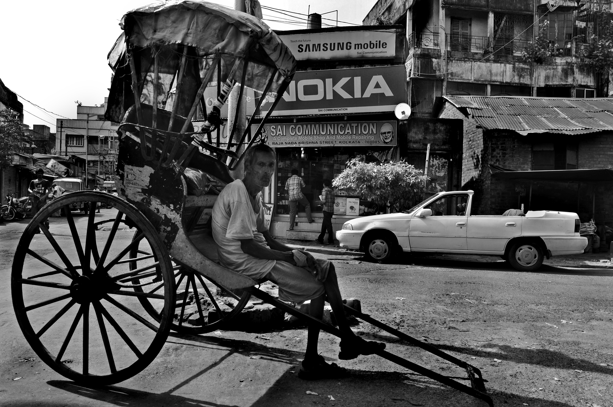 This image was taken from the streets in north kolkata west bengal india