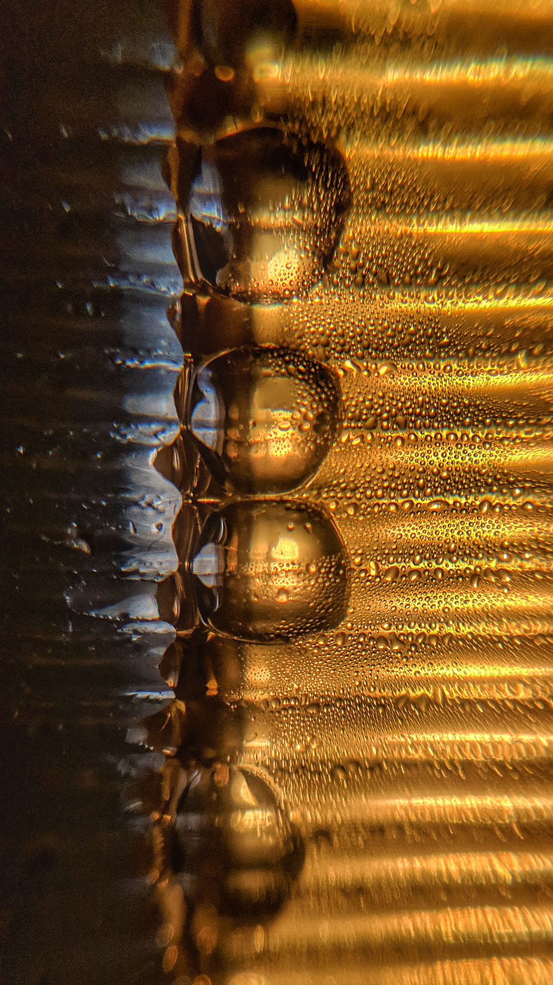 I always love the details in a picture, so here I have the bubbles on the surface of the drink with pretty details in it . Lit the glass from the bottom with a phone torch and with the help of macro lens took the image.