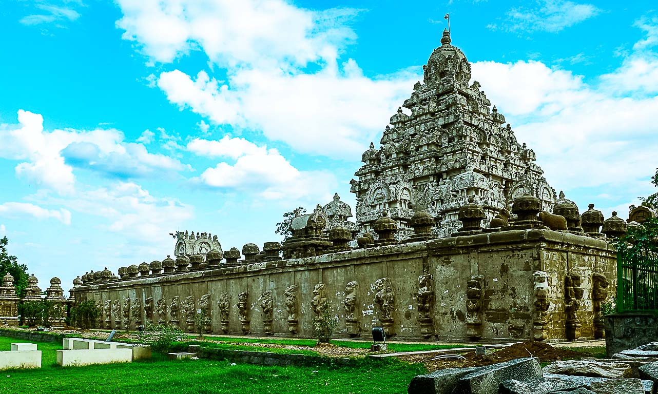 This shot was taken from Kailasanathar Temple. It is more than 1000 years old.