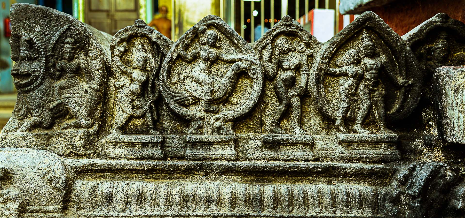 These statues depict the ancient angels that were dominant during the earlier Yugas like Kritha Yuga, Treta Yuga etc.