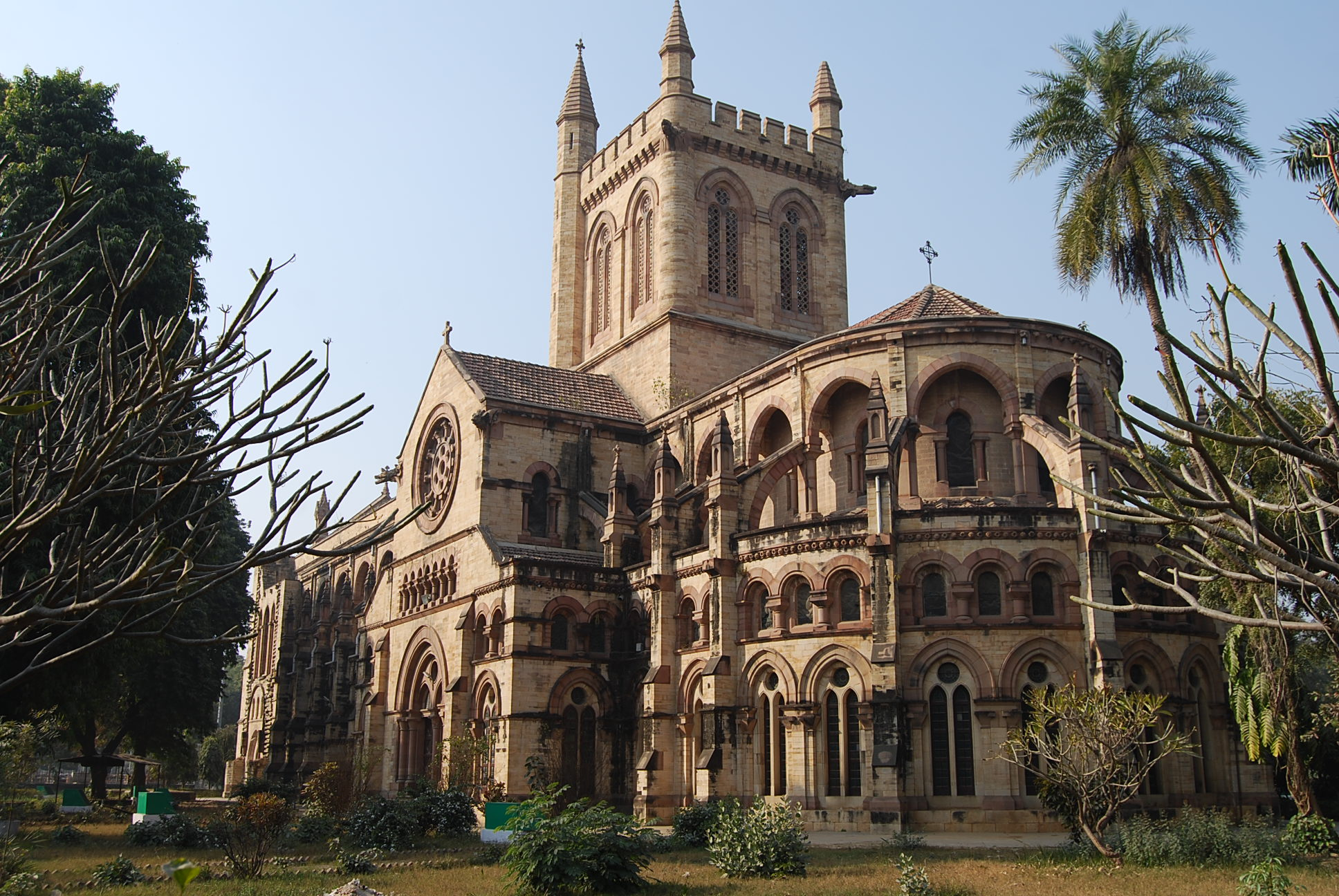 This photograph is taken of a Cathedral located in Allahabad. Its built in Gothic architectural style that makes it interesting.