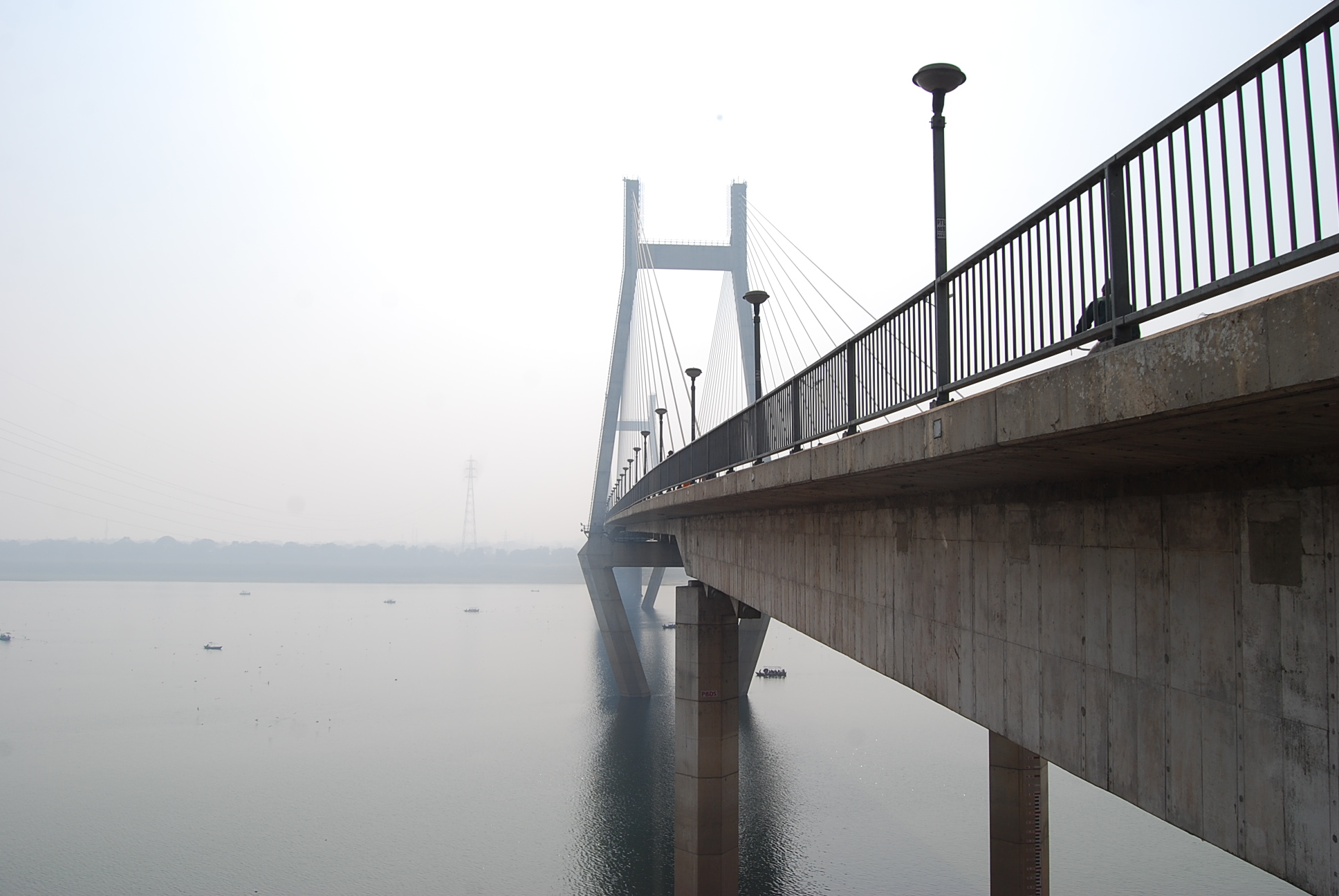 This photograph is of the New Yammuna bridge located in the city of Allahabad in Uttar Pradhesh.