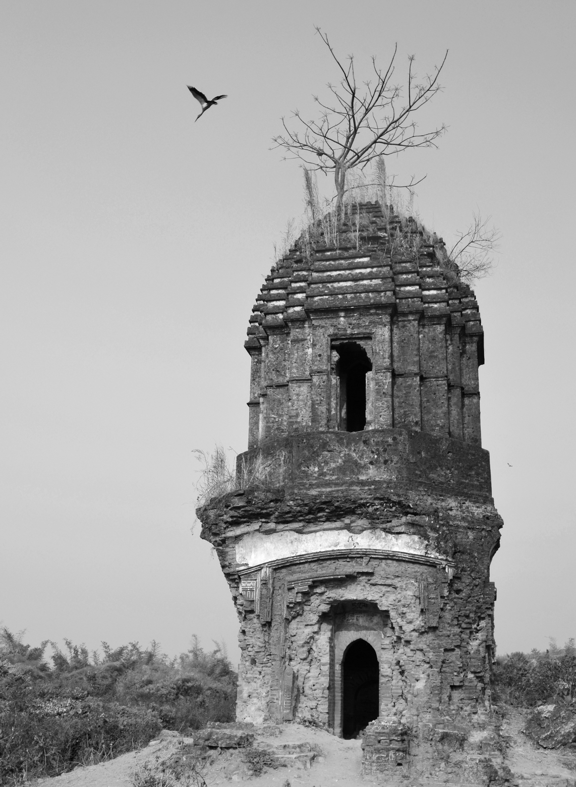 During visit at Purulia of West Bengal, I have taken this photo. Originally the picture was taken in colour and then converted to BW as the subject demands.