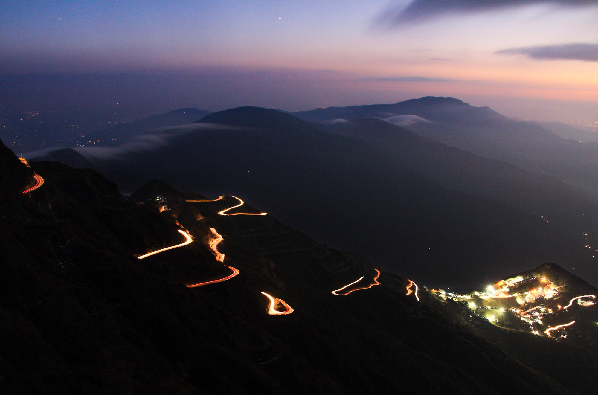 Silk route is one of the oldest and longest route made by mankind and now this route is heaven for tourists. After a long wait I found some bikers travelling the silk. I kept my shutter on from thambi viewpoint. The sunset from this viewpoint is heavenly and the whole light trail made it more lively.