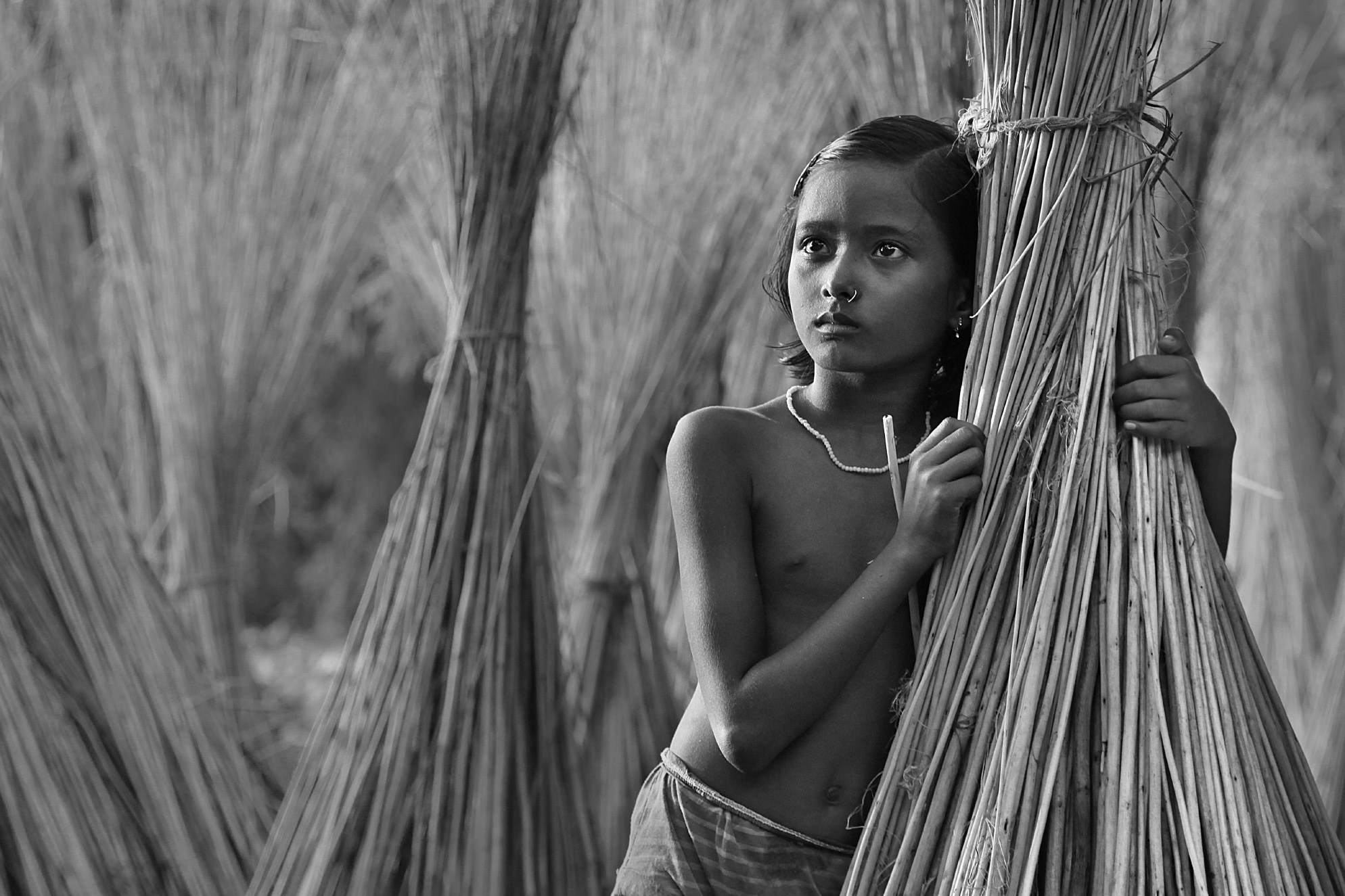 I took this image of a village girl at Cooch Behar,West Bengal,India.This image portrays the actual rural flavour of India.