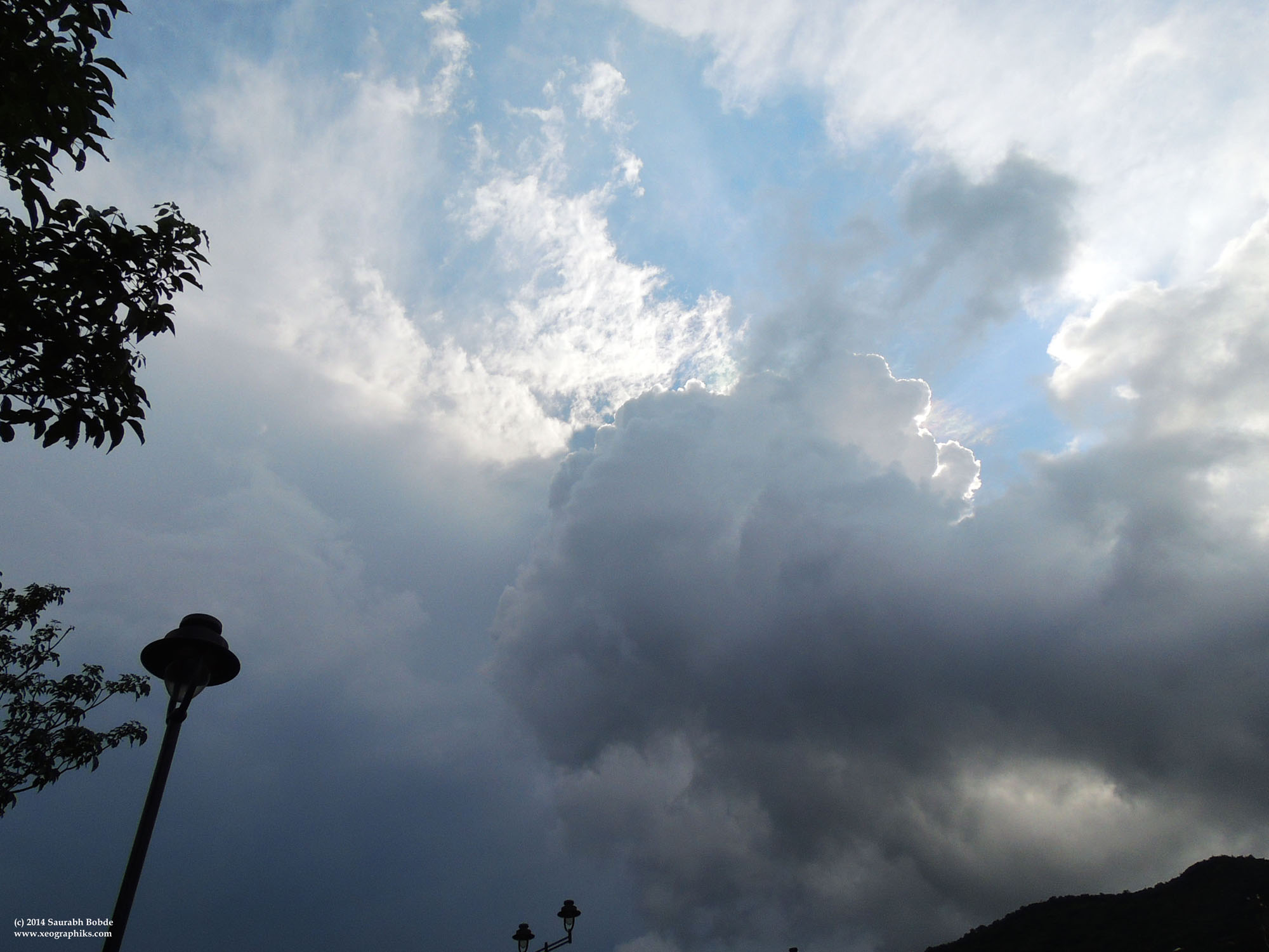 Something appears to be pulling the clouds upwards to a far-off center. Feel like going too!