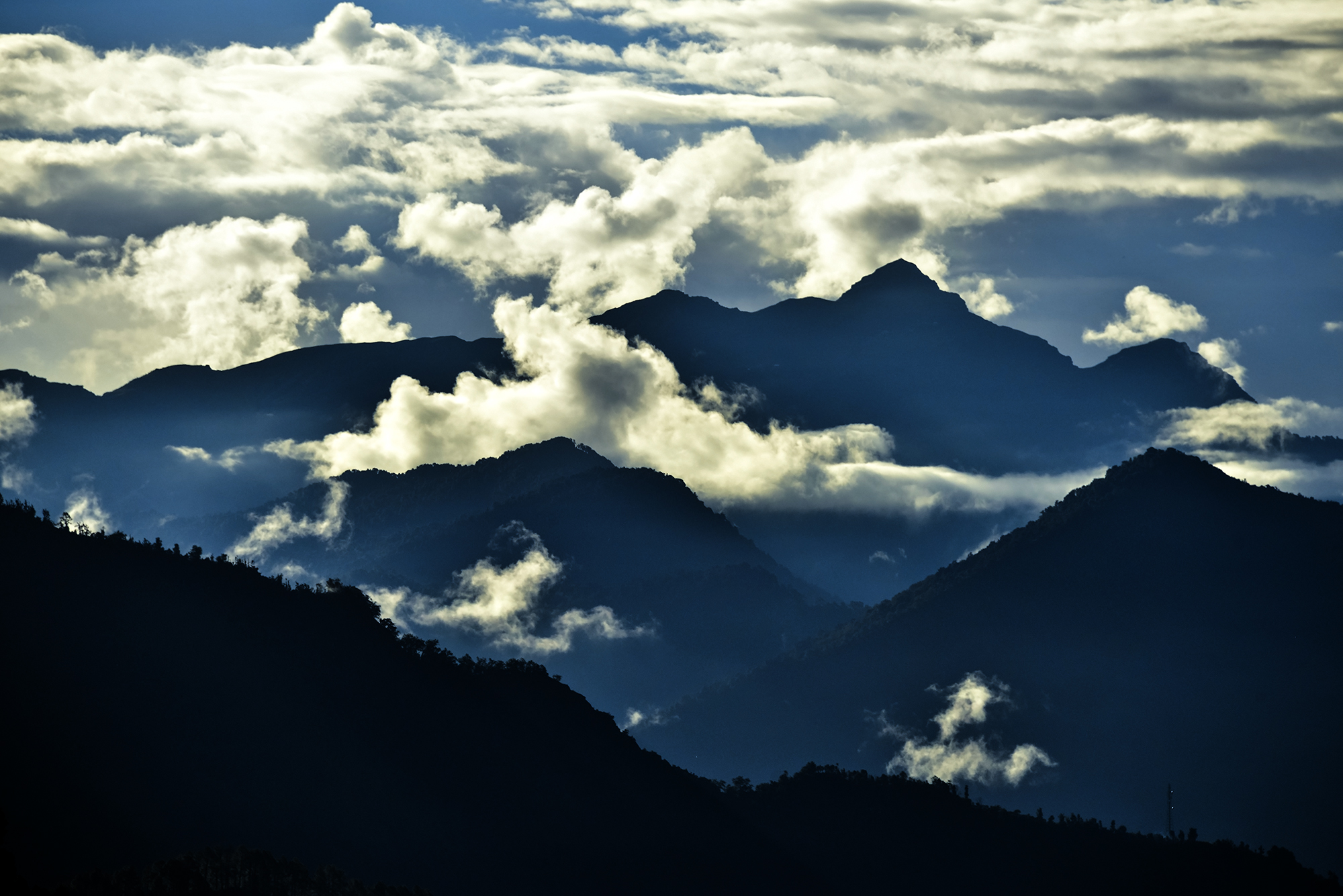 A heavenly bliss seen in beautiful state of Uttarakhand, India. The photograph was taken during early morning when the sun was just about to rise...