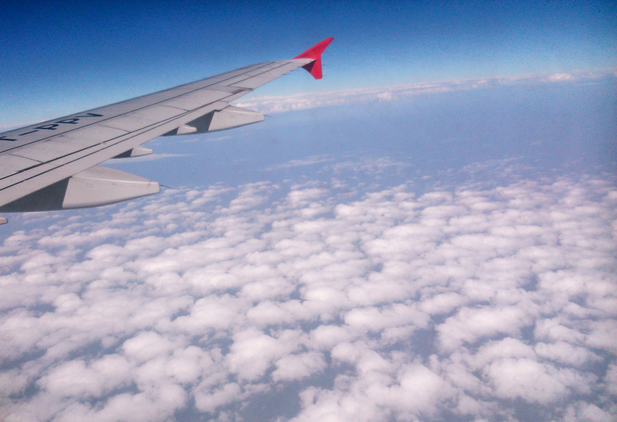 Something's strange about clouds that makes many a minds wonder. I clicked this image over Delhi, on a flight coming from Vizag.