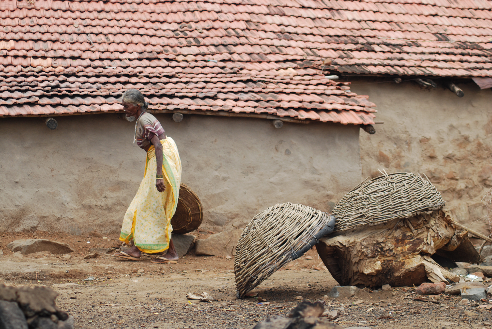 All yhe senior citizen ,perticularly  women of India working  hard at rural place. This image shows more than this description..