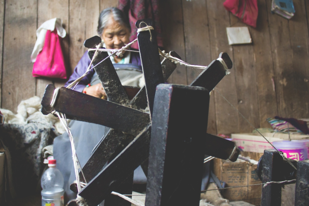 She lives in refugee centre earns her own living by weaving ..