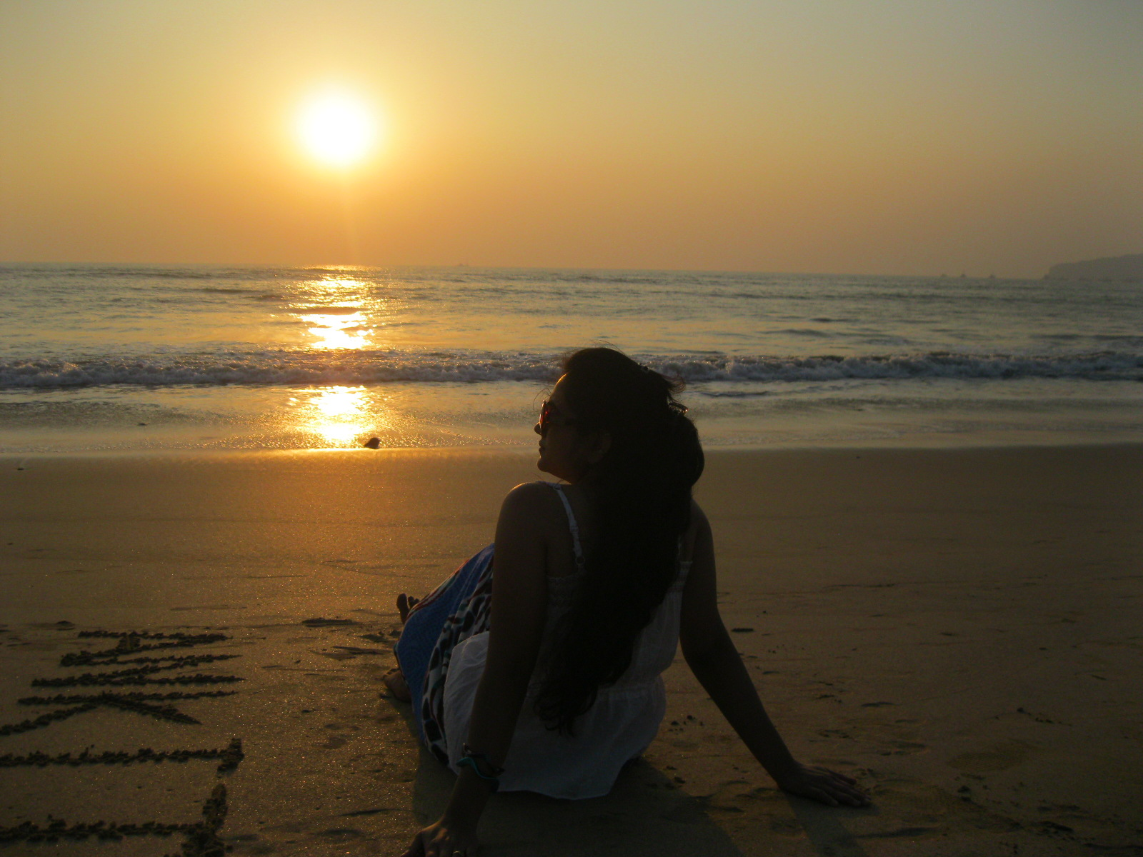 The Picture was shot during sunset at Velneshwar Beach