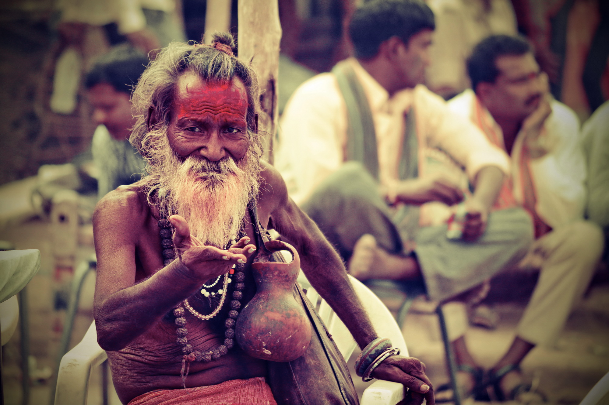 A sadhu explaining the complexities of modern life