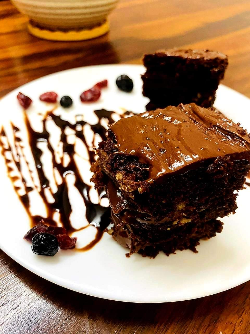 Chocolate Cake with dried berries