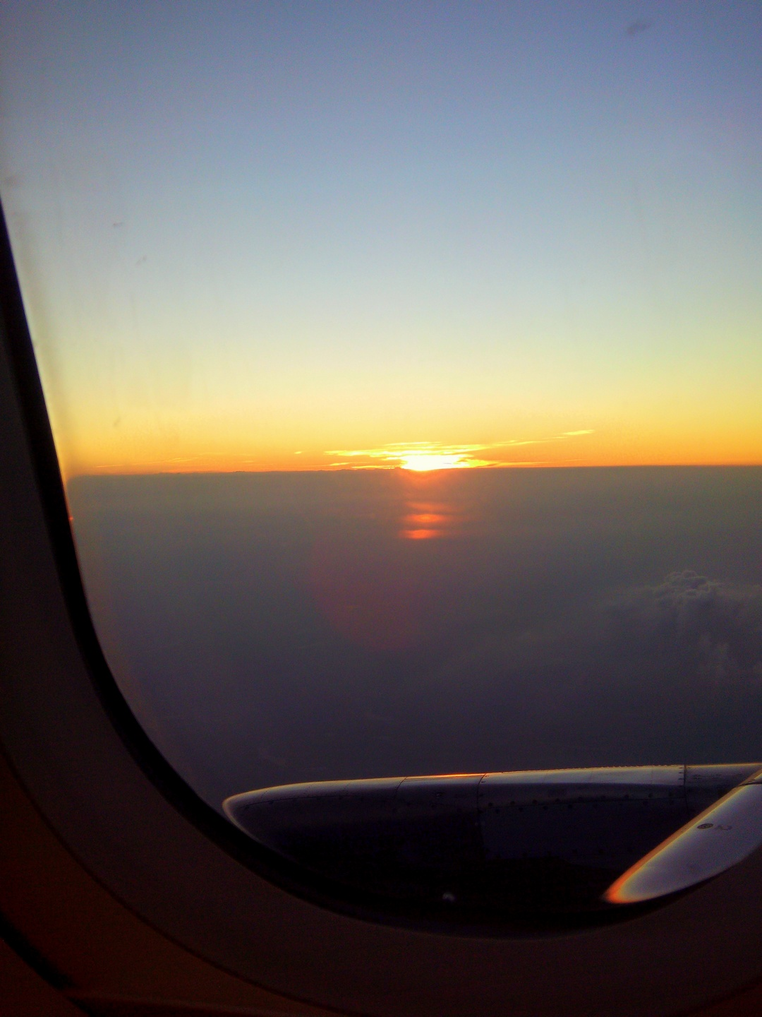 The Lovely Sunset captured on my Air travel to Hyderabad was a feast to my eyes !