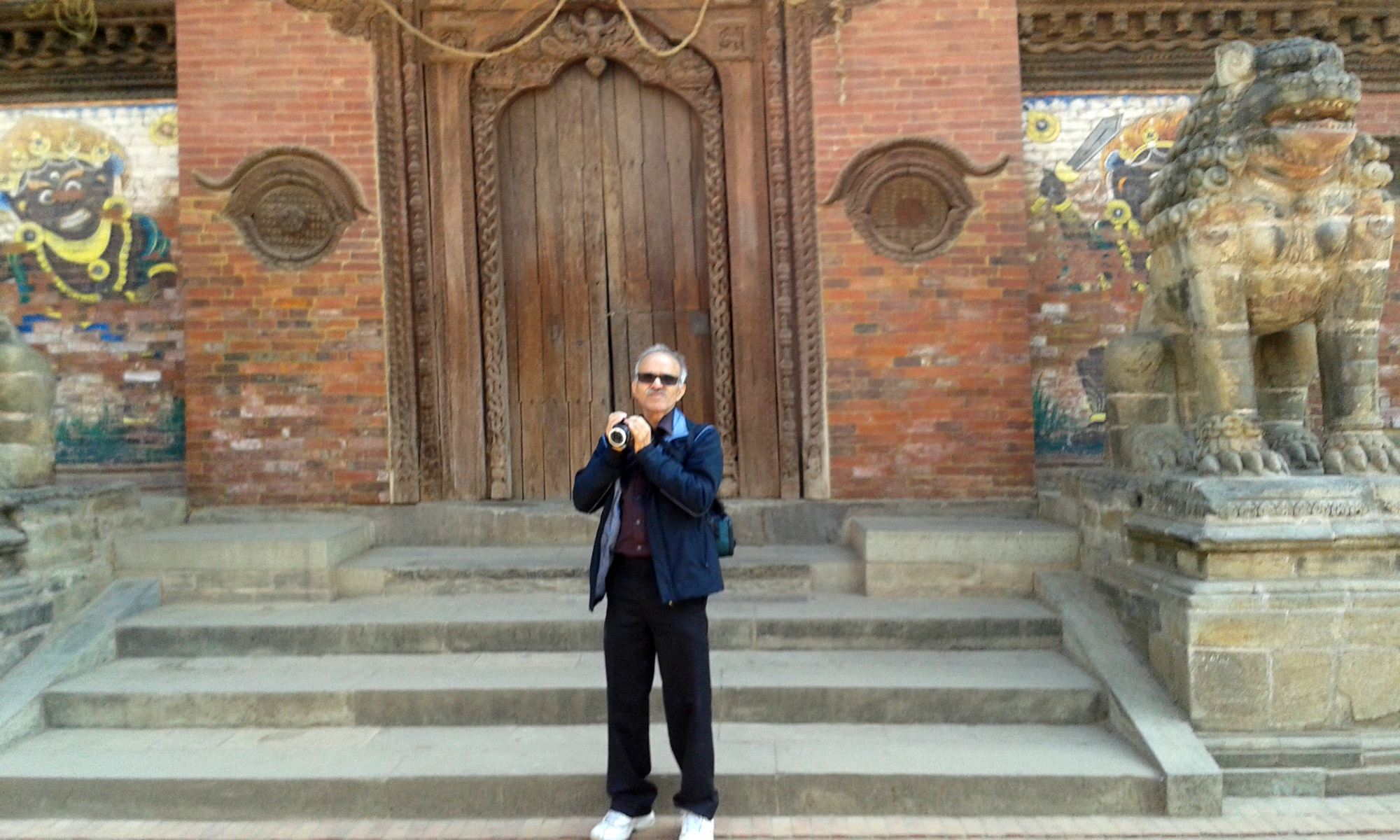 Photo was taken at Patan Darbar in Kathmandu, Nepal in Feb, 2015