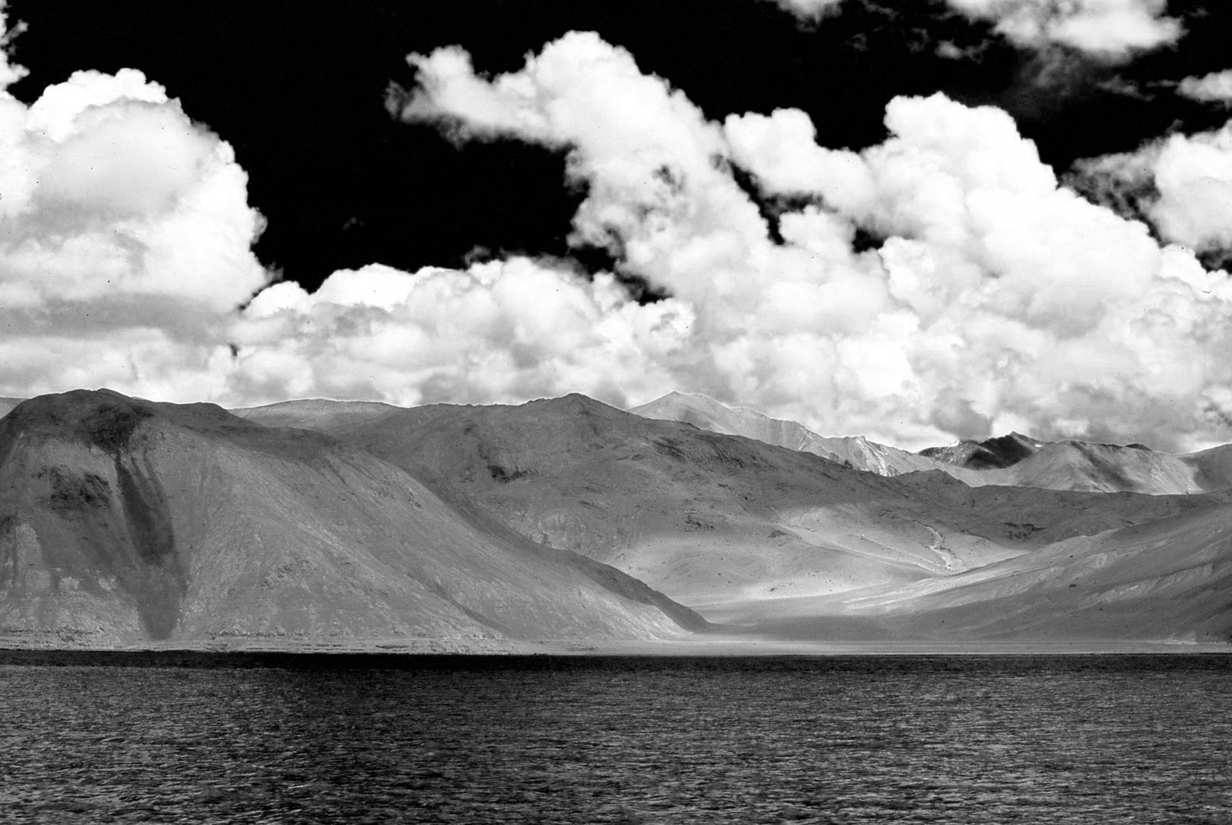 During full monsoon in Ladakh I have taken this dramatic picture at Pangong lake