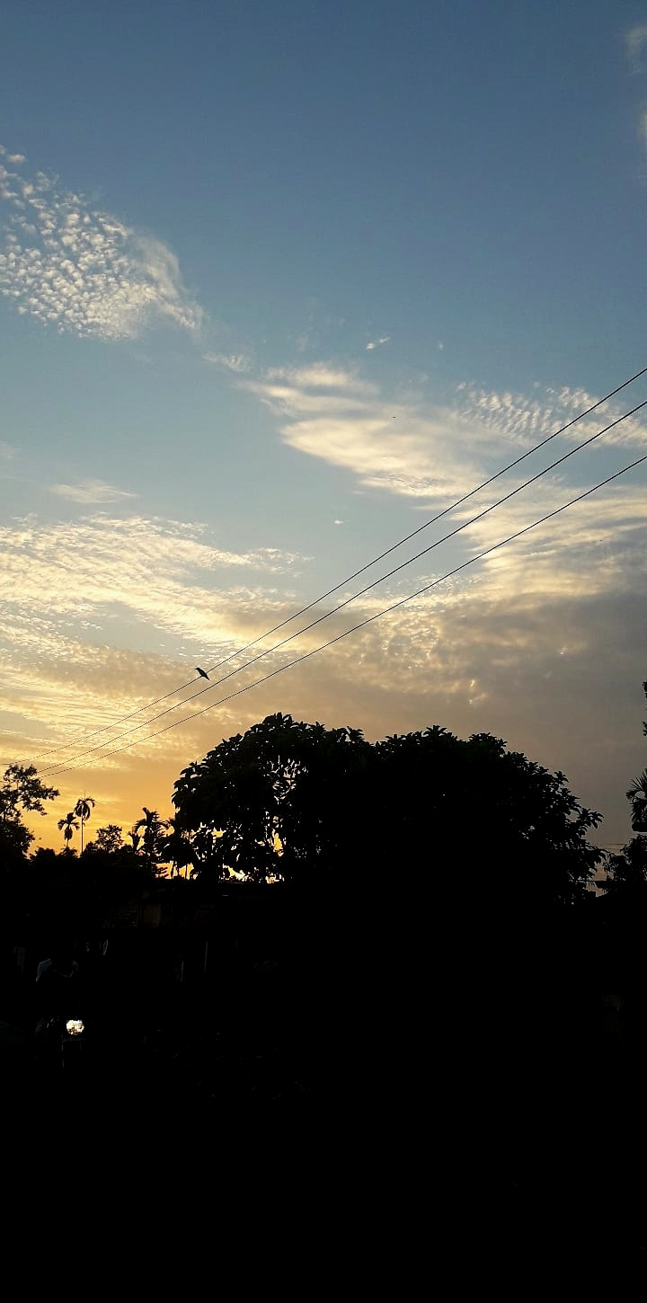 The clouds in Assam are always dramatic. It has that scenic beauty most probably due to less pollution.