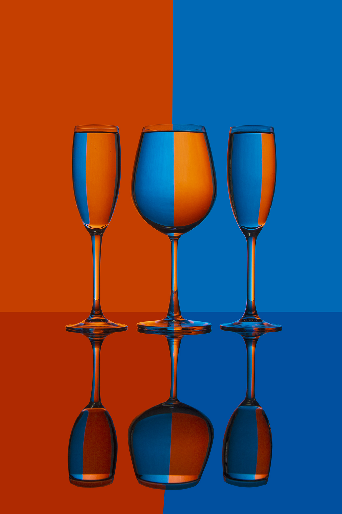 This image was shot with bright field technique using the glassware
