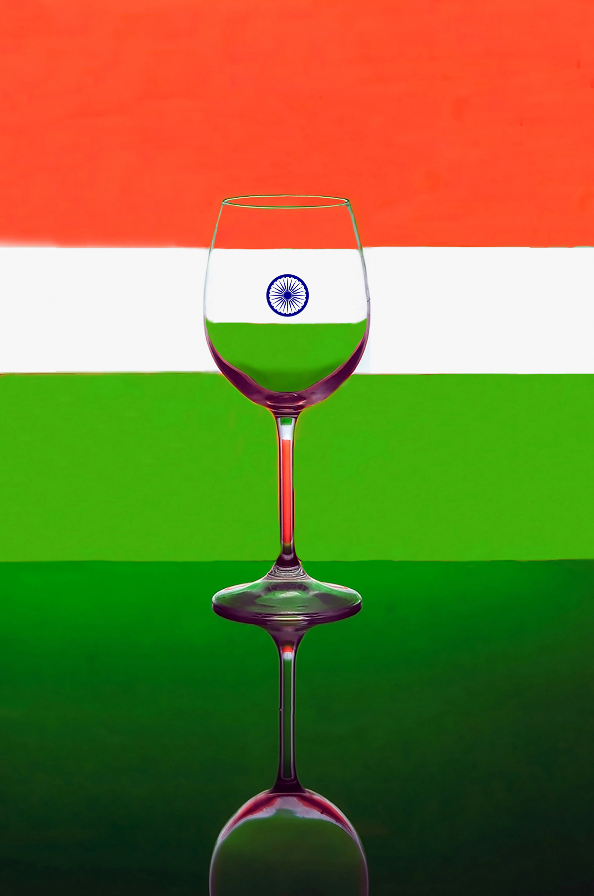 India represented in a glass!