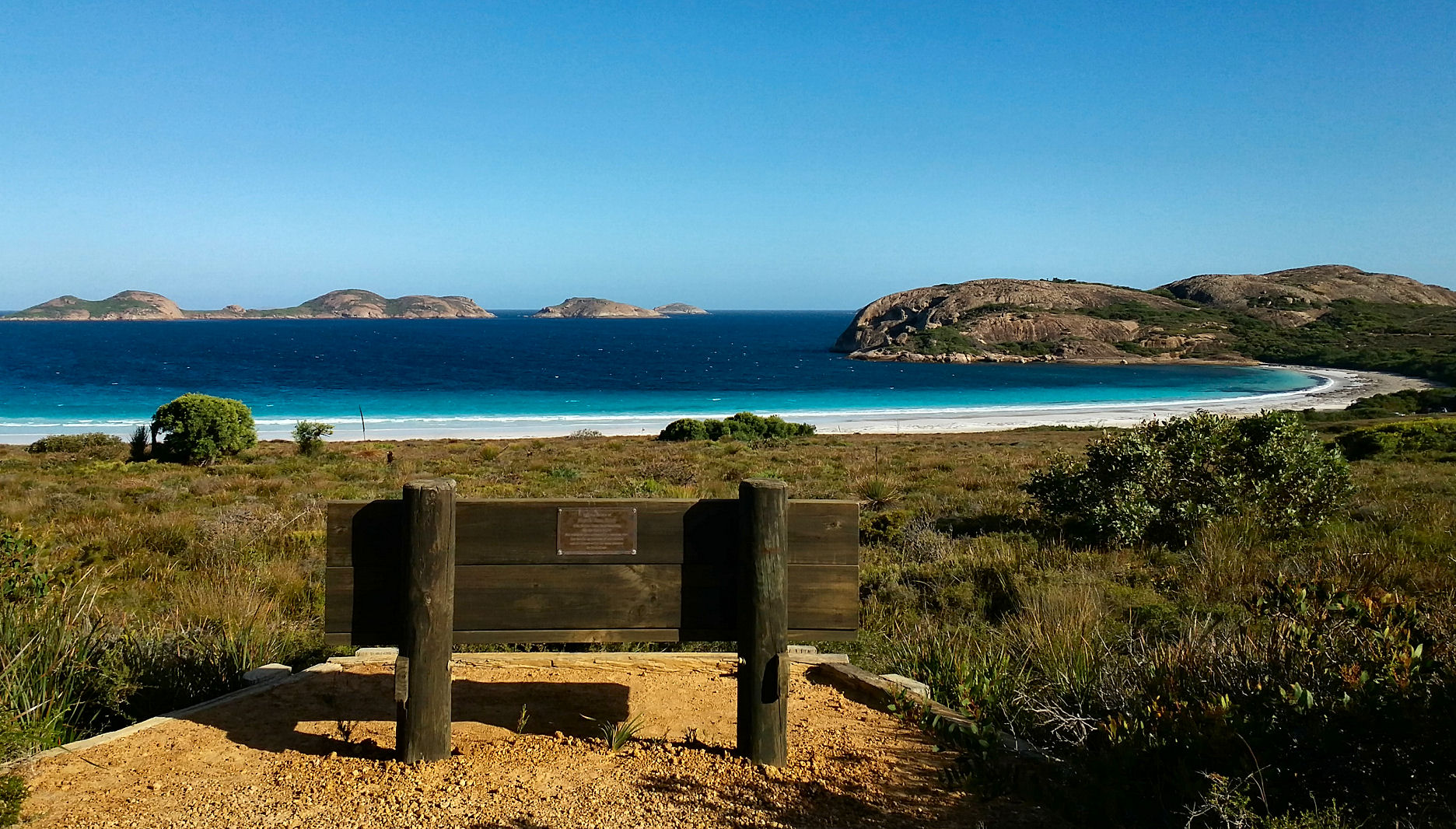 The amazing view of Lucky Bay in Cape Le Grande National Park, Esperance, Western Australia