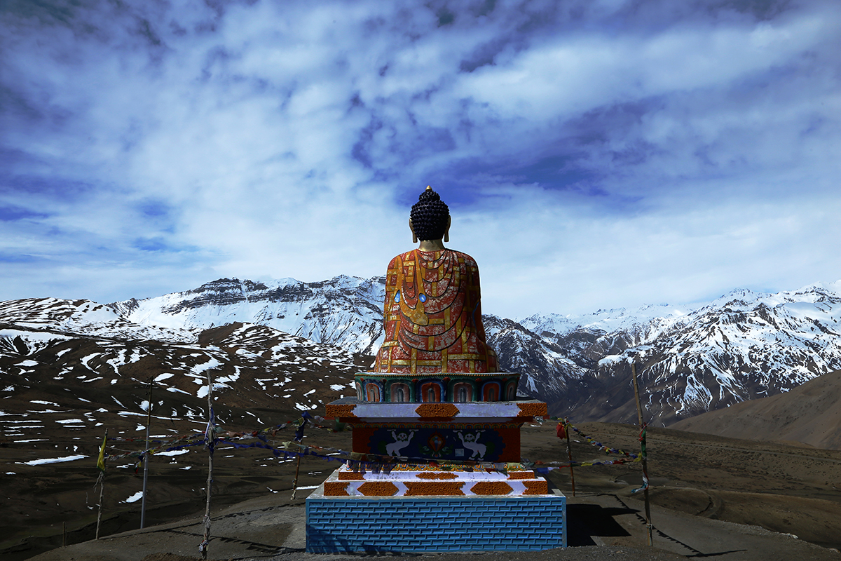 This Photo is taken in LANGZA village of SPITI VALLEY. my recent trip to the valley i was amazed to see the beauty of the nature and GOD. Local people of the village believes that LORD BUDDHA is sitting on the top of the Hill and Keeping an eye over the MOUNTAINS AND the VILLAGE