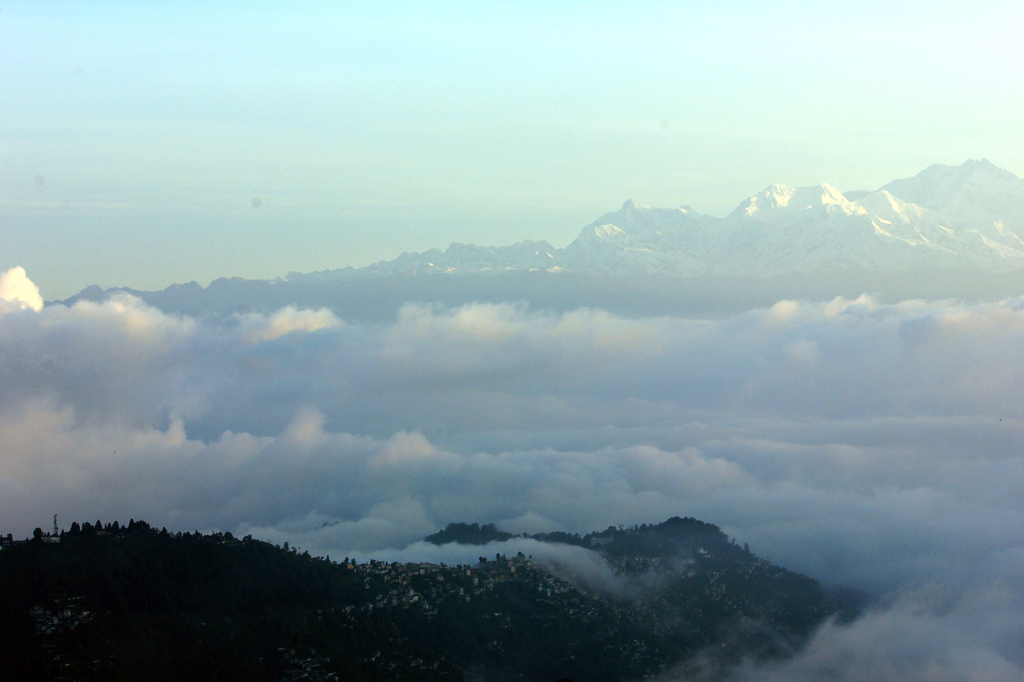 you can see in this photo queen of hill,Darjeeling along with Kanchenjunga.